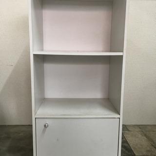 三段 カラーボックス (扉付き)