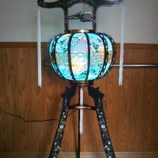 ⭐️特選盆灯籠(1対)回転灯  花鳥