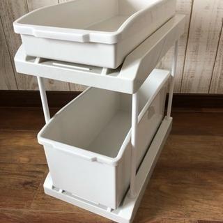 あげます!キッチン 収納 ストッカー 2段 スライド式