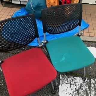 中古品 椅子 2点セット キャスター付き イベント 受付な…