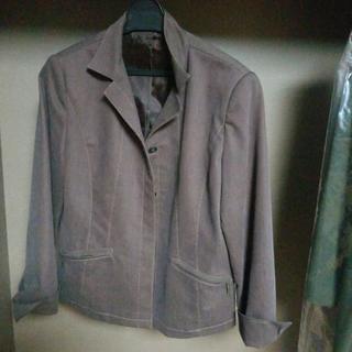 ジャケット 紫っぽい茶色 ステッチ入り