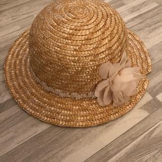 キムラタン リリーアイボリー 麦わら帽子 52センチ