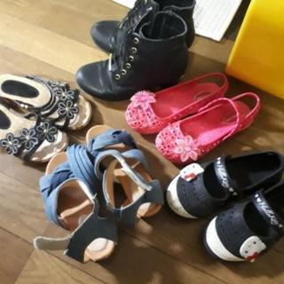 女の子 靴 サンダルセット 17~20