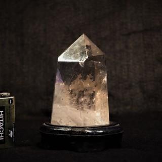 天然石 265gブラジル産水晶 ポイント(六角柱)パワーストーン...