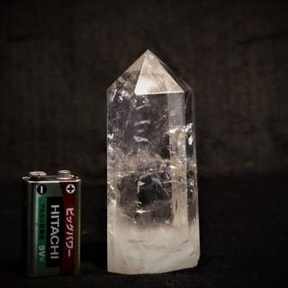 天然石 280gブラジル産水晶 ポイント(六角柱)パワーストーン...