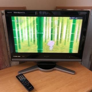 SHARP AQUOS 液晶テレビ 26インチ リモコン付 亀山モデル