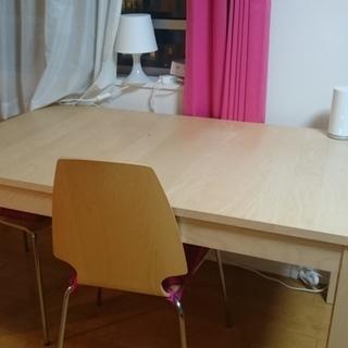 ご夫婦最適IKEAのDテーブル&イス2脚セット5/25迄に来れる方