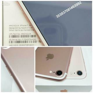 SIMフリー iPhone7 128GB Rose Gold 箱入りフルセット バッテリー86% − 東京都