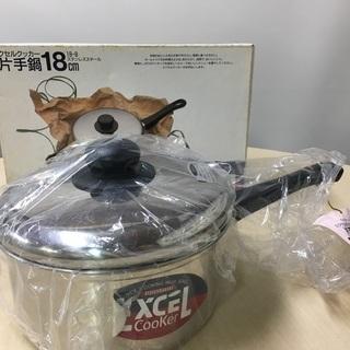 EXCEL エクセルクッカー 片手鍋 ステンレス 18cm 未使...