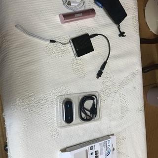 スマホ用、トランスリミッター、予備バッテリー、ソーラー充電器
