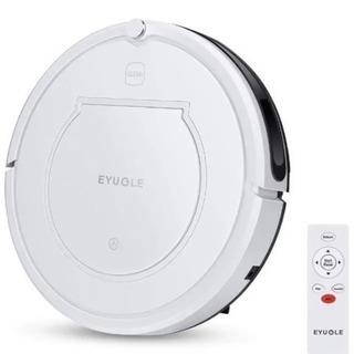 ラスト1個!新品未使用!EYUGLE ロボット掃除機 水拭きもできる4モード 自動充電 モップタイプ 白の画像