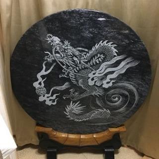 大理石 龍彫刻 衝立
