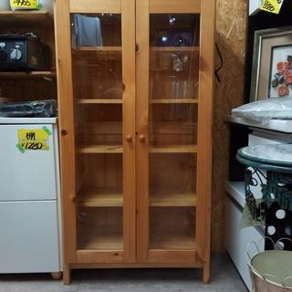 ☆4段扉収納ラック(棚調整できます) 食器棚☆72×44×136☆...