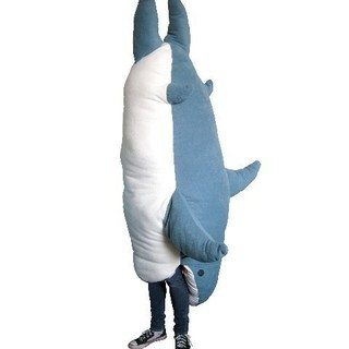 サメ 寝袋 布団 クッション