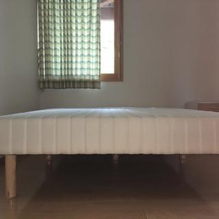 ダブルサイズベッド、布団セット 美品!