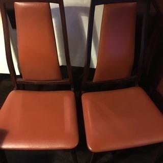 ダイニングチェアー  DANISH 椅子 2点