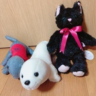 ぬいぐるみ 黒猫 ごまちゃん デニム生地猫