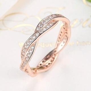 シルバー925指輪 レディースリング 結婚指輪 ピンクゴールドメ...