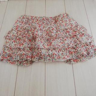 ミニスカート(白×花) Mサイズ