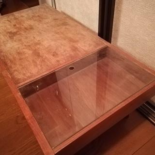 座卓 ローテーブル 木製 ガラス ...