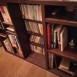 本棚 キャビネット 木製 0円 引...