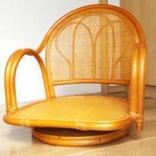 (美品)ラタン回転座椅子の画像