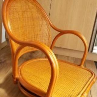 (美品)ラタン回転座椅子 - 太田市
