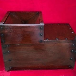 賽銭箱 時代箱 船箪笥 階段箪笥2段  船大工作製 木製品 貴重...