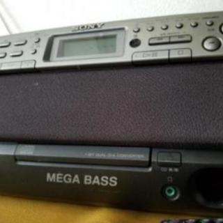 SONY CD&カセットラジカセ