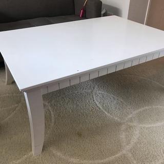 【美品】こたつ付き 猫脚テーブル
