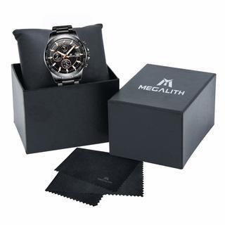 新品未使用 腕時計 ブラック ゴールド Megalith
