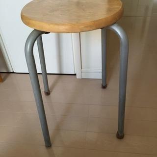 木の丸い椅子