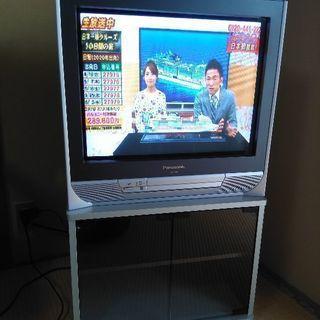 バナソニック製 ブラウン管テレビ 2003年製 チューナー テレビ台付