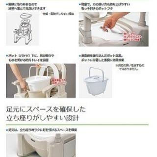 パナソニックエイジフリーポータブルトイレ座楽背もたれ型S...