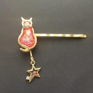 送料無料❗️値下げ❗️猫好きさんにキラキラレジンのぷっくり猫ピン