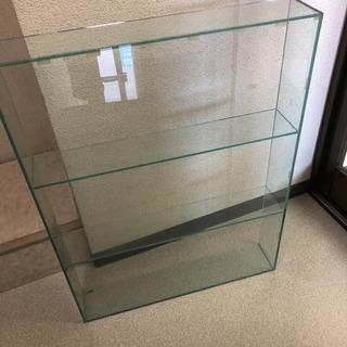 【店舗什器】アクリル3段オープンケース 幅55×奥行10.5×高...