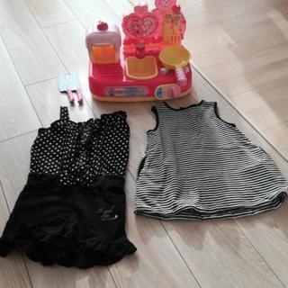 女の子服(80)×2枚&キッチンセット ワンピース ままごと