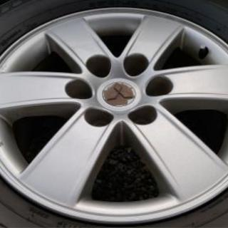 パジェロ 純正ホイール4本(タイヤ付) - 車のパーツ
