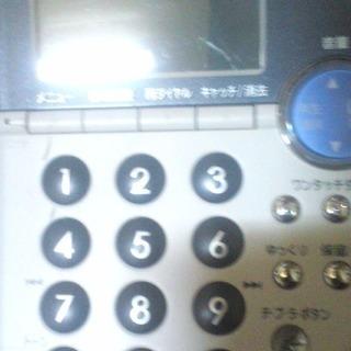 家庭用の電話機。子機つき