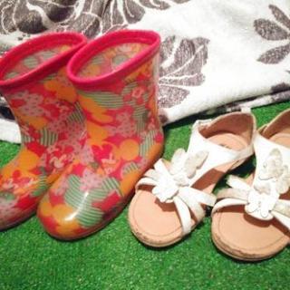 ミッキー長靴♥バタフライサンダル  セット