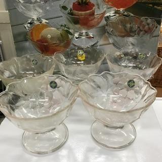 レトロ HOYA  アイスクリーム用 グラス