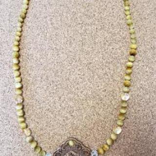 天然石アクセサリー   ゴールデンタイガーアイのネックレス