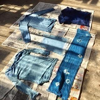 藍染体験できます。Tシャツサイズで2000円