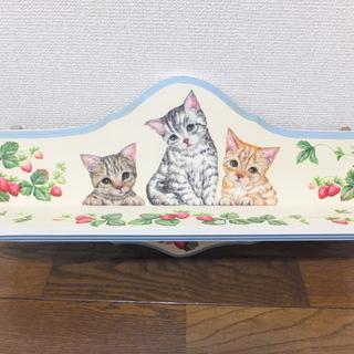 アメショー・茶トラ・キジトラ♪かわいい猫の飾り棚♪棚♪トールペイ...