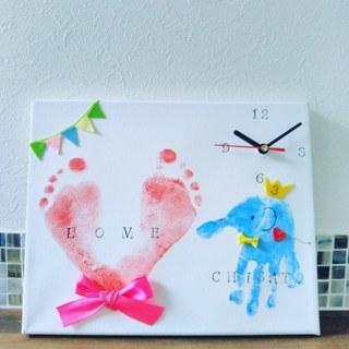 前橋 父の日プレゼント・赤ちゃんと作る世界に一つの時計づくり 手形アート