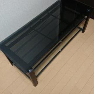 ローテーブル、テレビ台 強化ガラス製