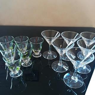 使用品です☆ミニグラス2種12個まとめ売り