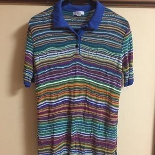 カラフル、涼しげなポロシャツ SーMサイズ