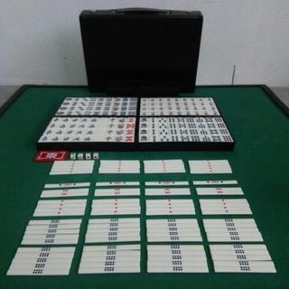 中古  麻雀牌 セット  マージャン牌 一式  牌サイズ:  幅...