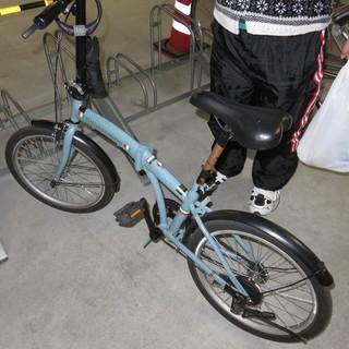中古4カ月折り畳み自転車